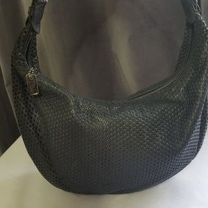 Authentic Christian Dior Perforated Leather Bag